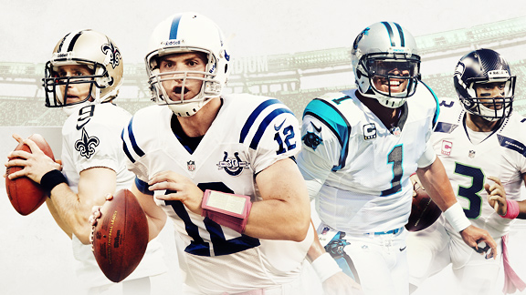 Brees, Luck, Cam, Russ